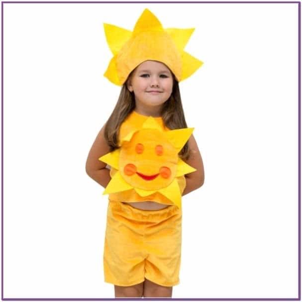 Детский костюм Солнца в шортах