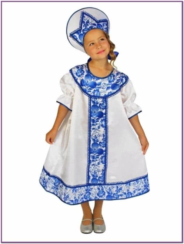 Детский костюм в стиле Гжель