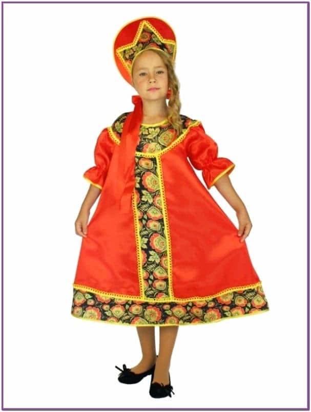 Детский костюм в стиле Хохлома
