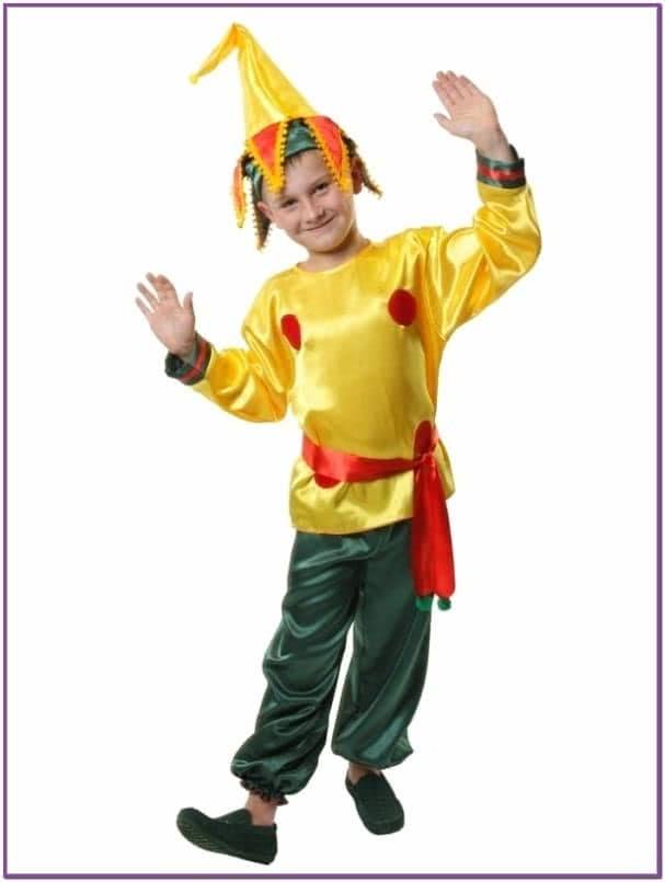 Детский костюм веселого Петрушки