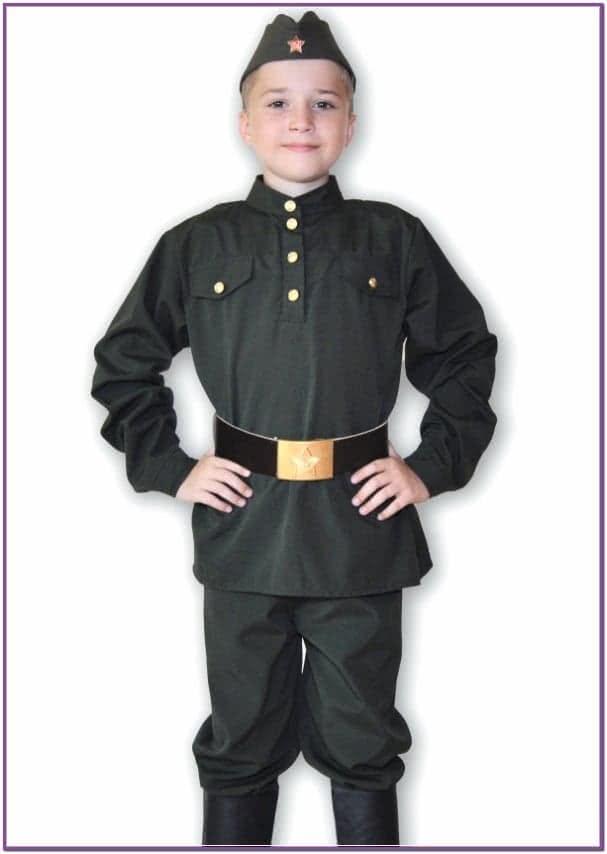 Детский костюм военного мальчика