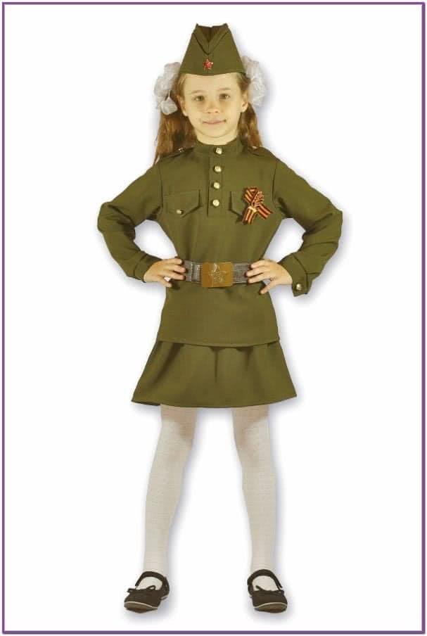 Детский костюм военной девочки