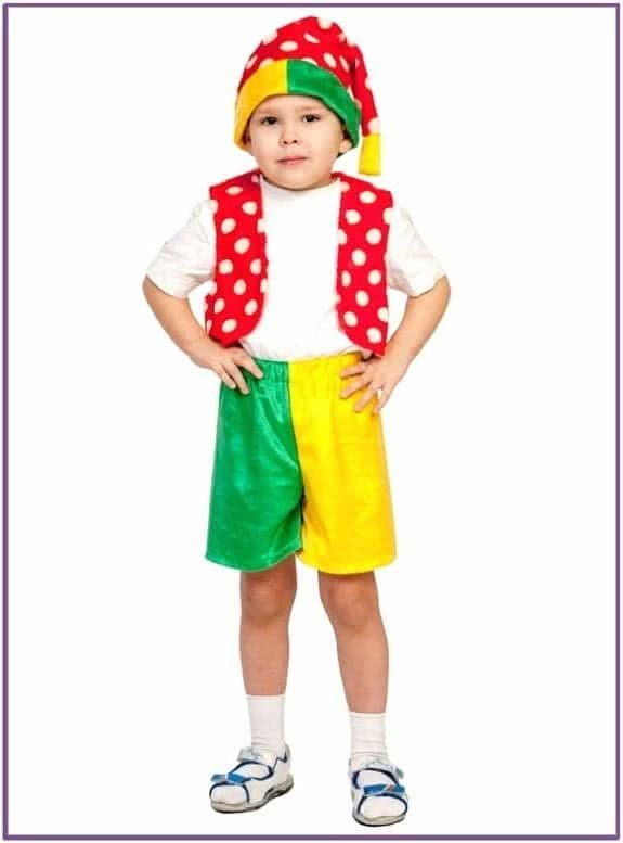 Детский костюм Яркого Петрушки