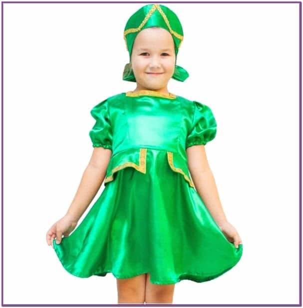 Детский костюм Зеленая Кадриль плясовой