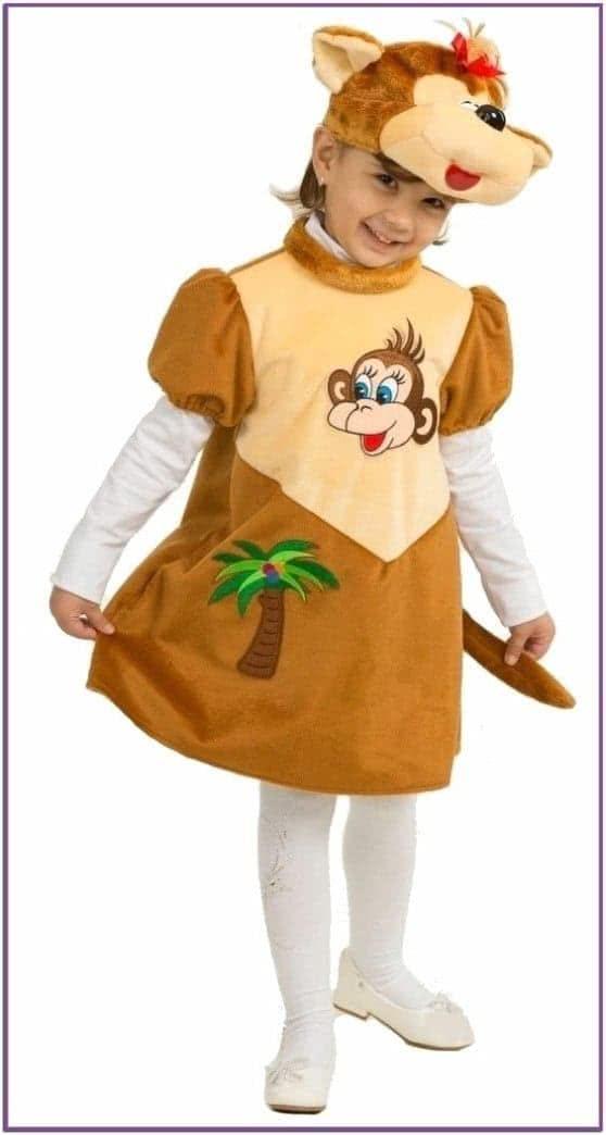 Детский плюшевый костюм обезьянки