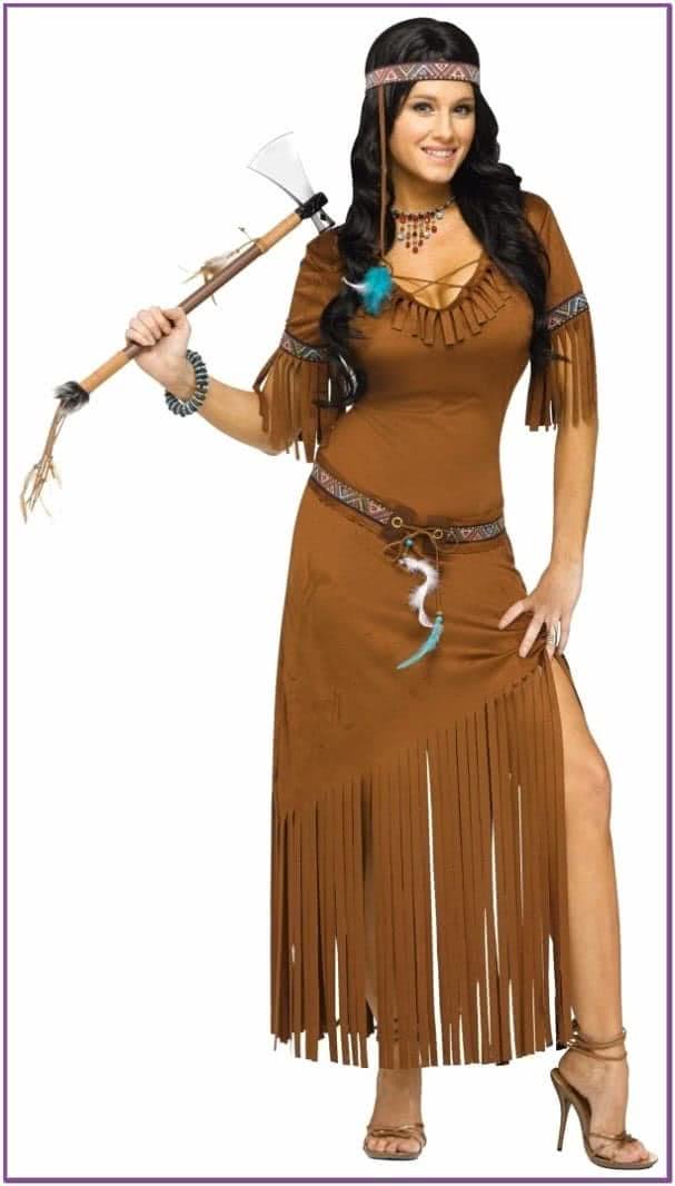Длинное платье индейской девушки