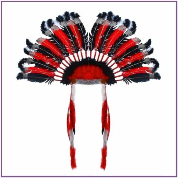 Головной убор Индейца красный