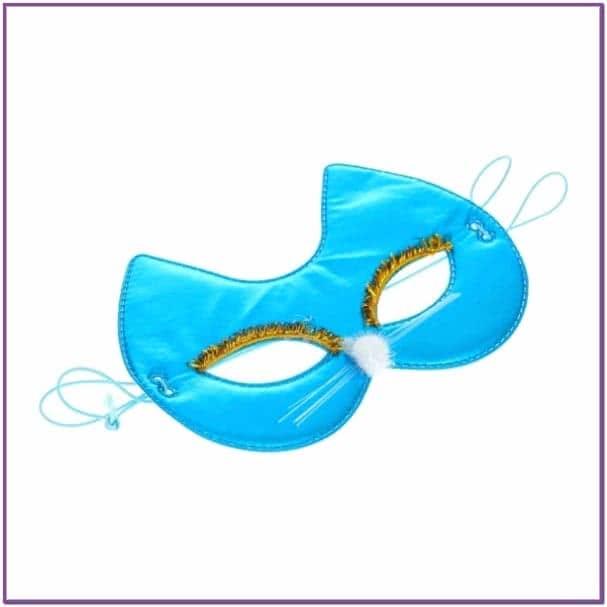 Голубая маска на глаза Кошечка