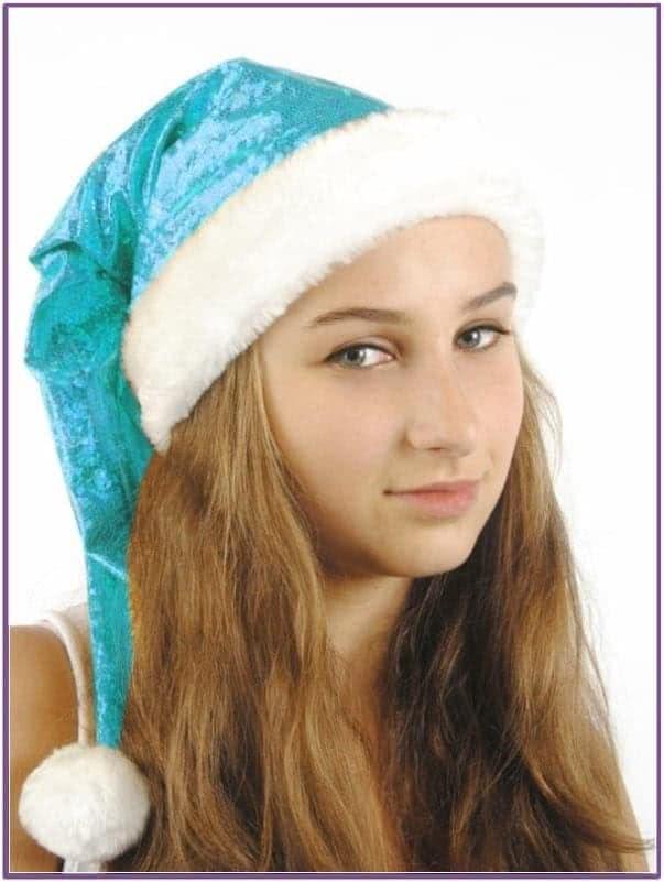 Голубой рождественский колпак