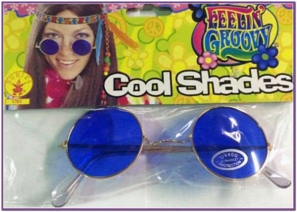 Хипповые очки синие