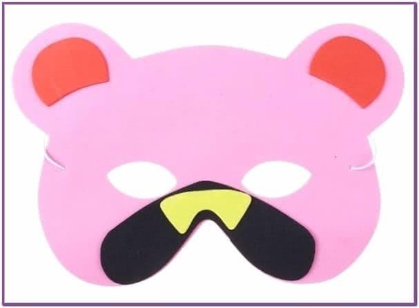 Карнавальная маска медвежонка