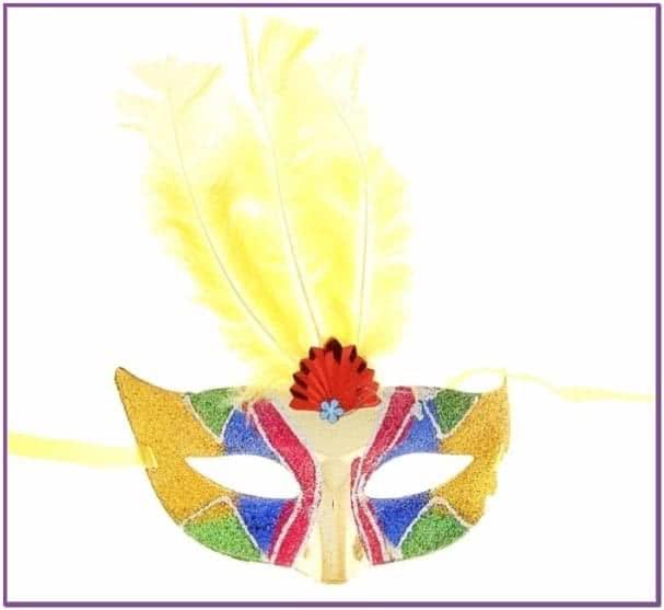 Карнавальная маска разноцветная