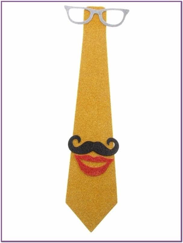 Карнавальный галстук очки, усы и губы