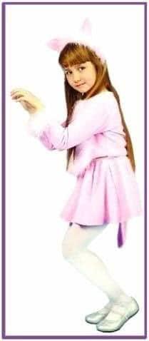 Карнавальный костюм кошечка розовая