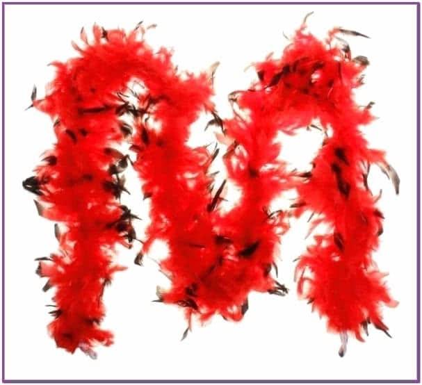 Карнавальный шарф красный