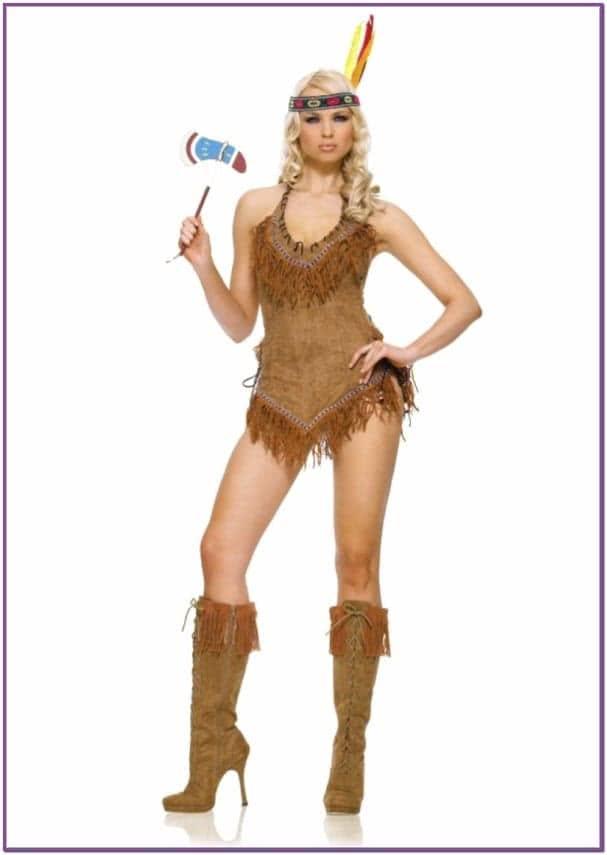 Коричневый костюм индейской девушки