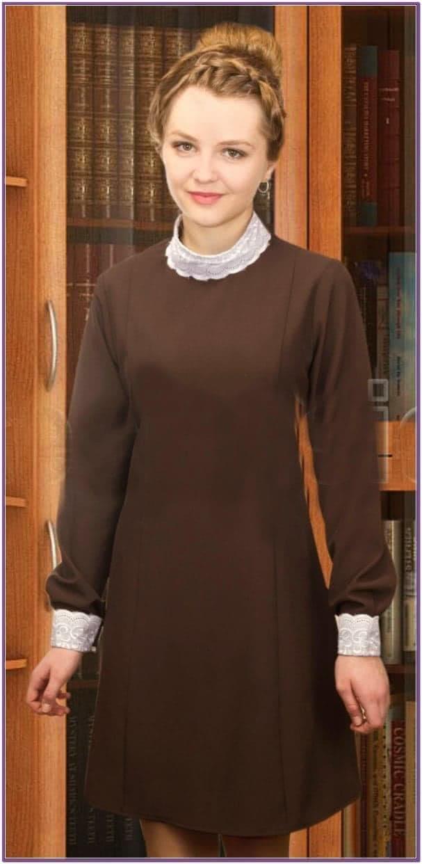 Коричневое платье Школьницы