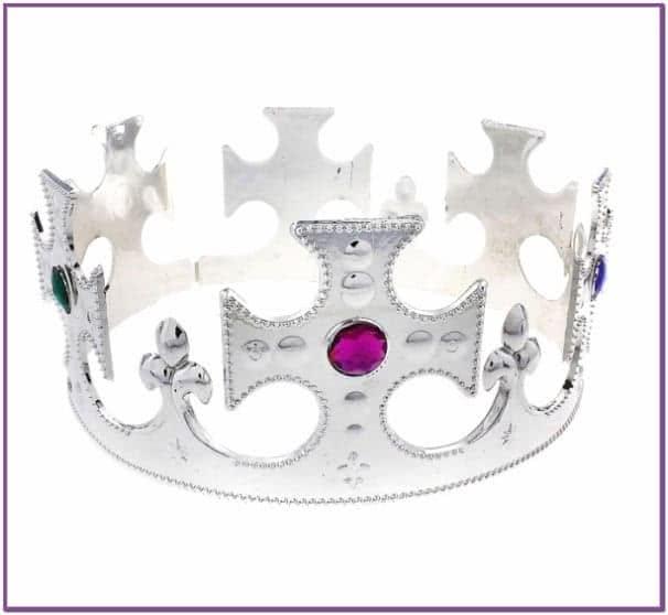 Королевская корона серебряная