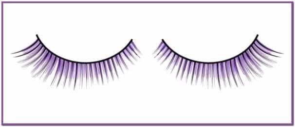 Короткие черно-фиолетовые ресницы