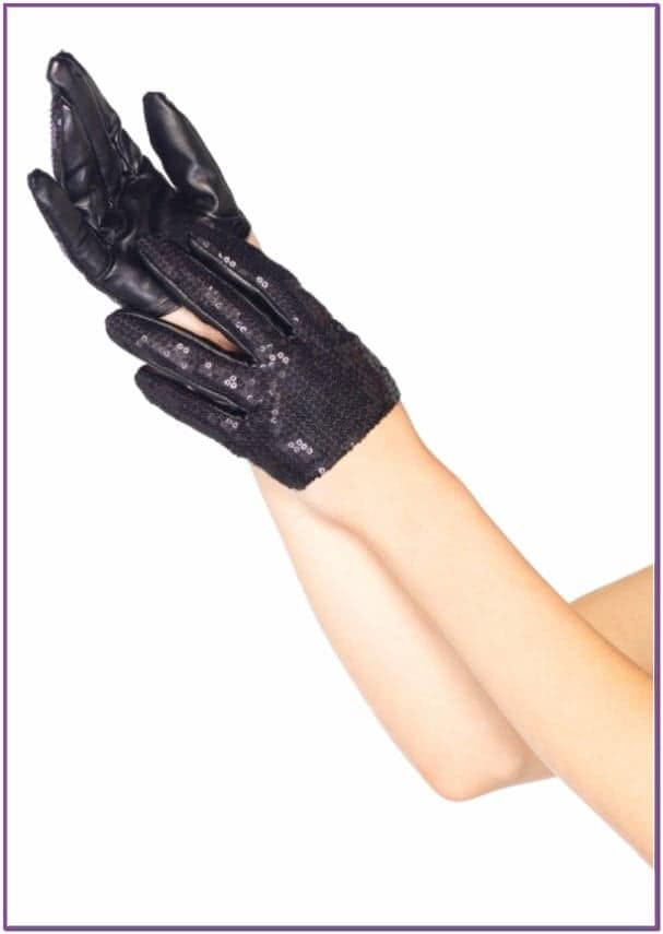 Короткие перчатки с пайетками