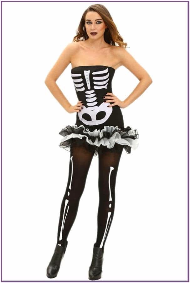 Короткое платье Скелета
