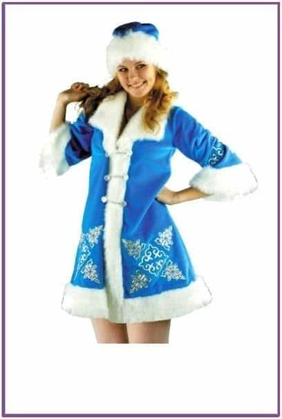Костюм Снегурки с вышивкой