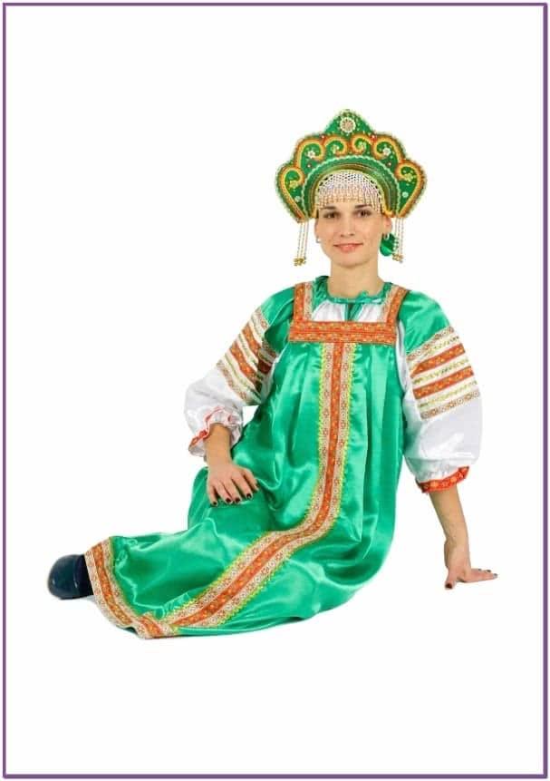 Костюм Варвара зеленый