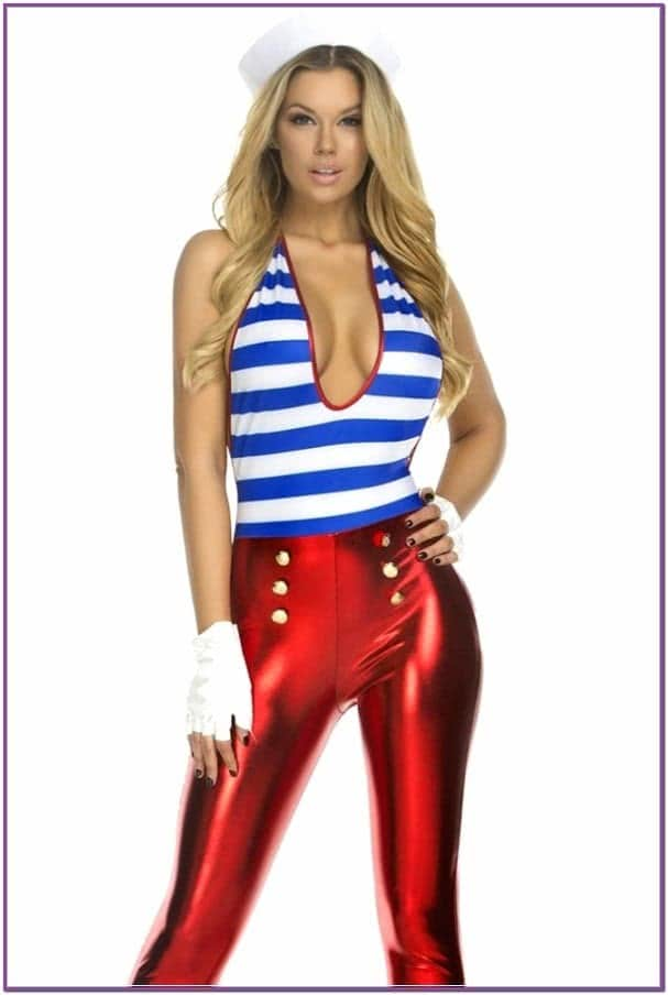 Красный костюм морячки