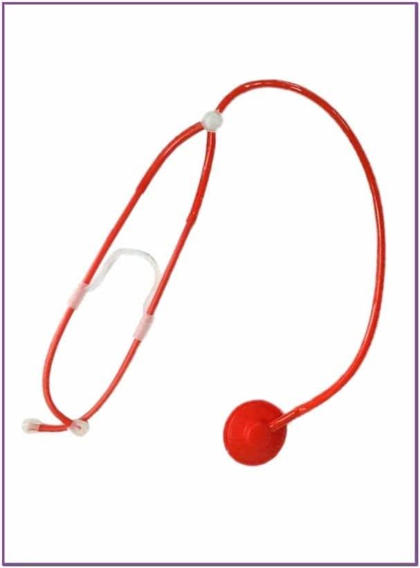 Красный стетоскоп