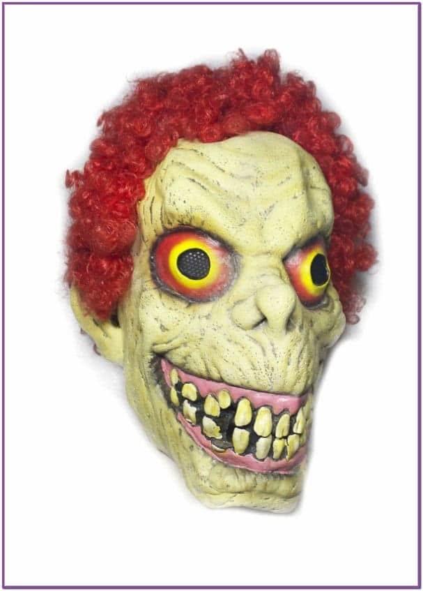 Латексная маска с красными волосами