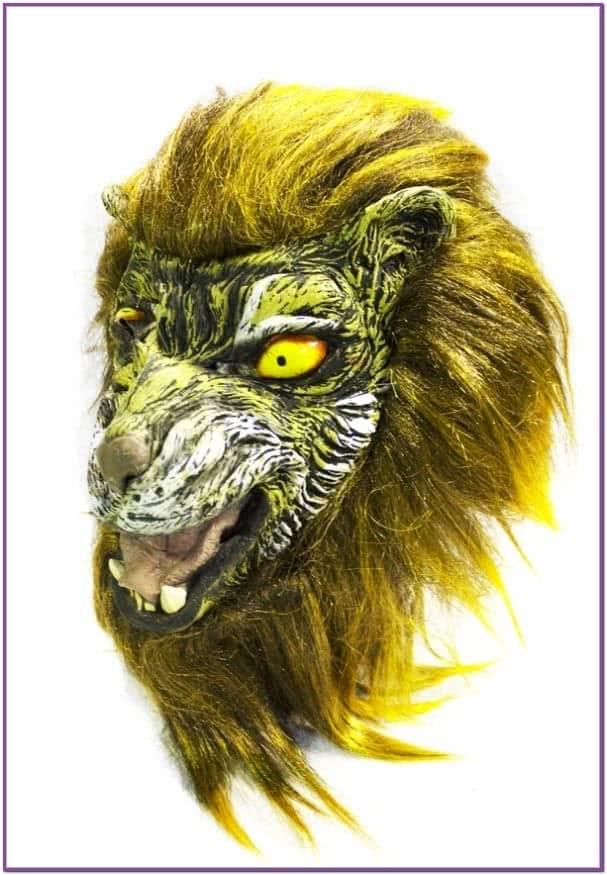 Латексная маска тигра-оборотня