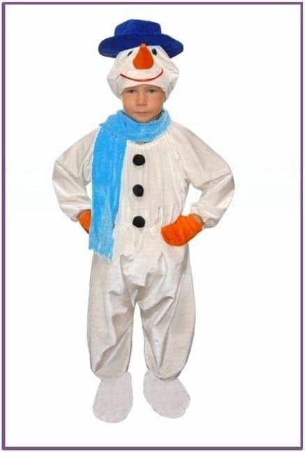Плюшевый костюм Снеговика