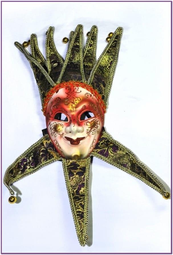 Венецианская маска красная