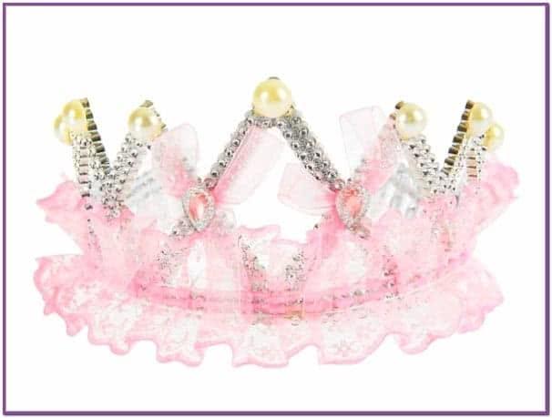 Воздушная розовая корона