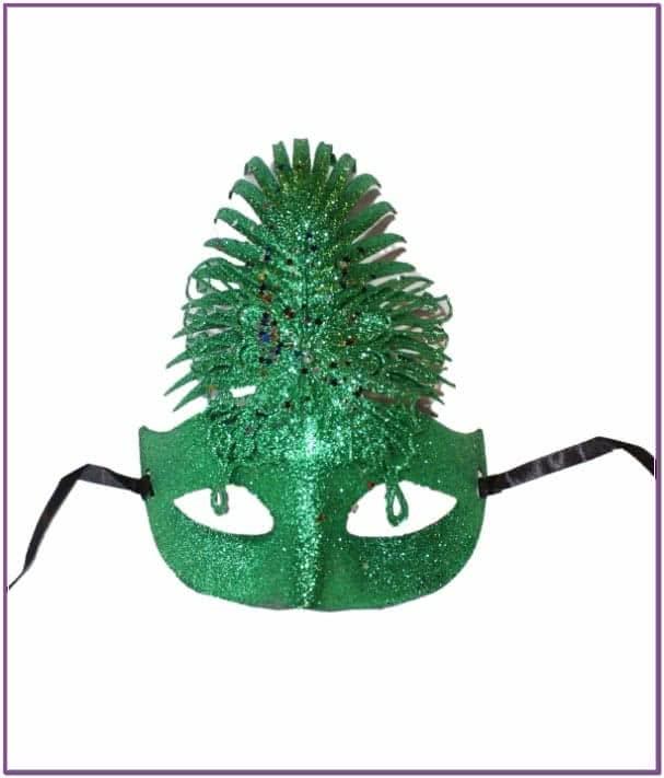 Зеленая блестящая маска