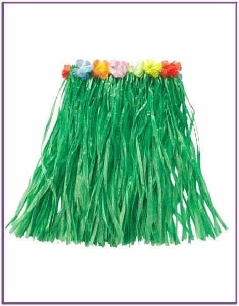 Зеленая гавайская юбка