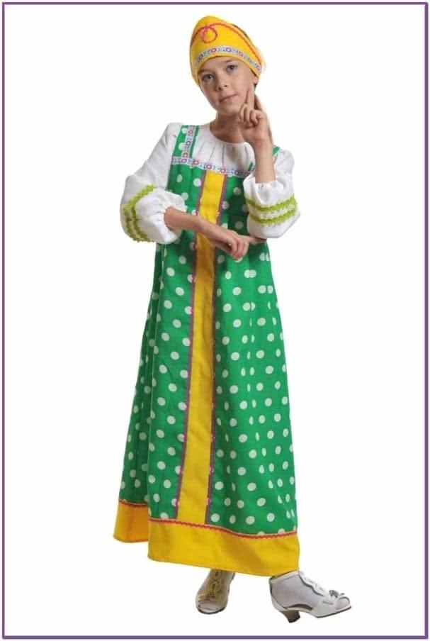 Зеленый костюм Аленушки