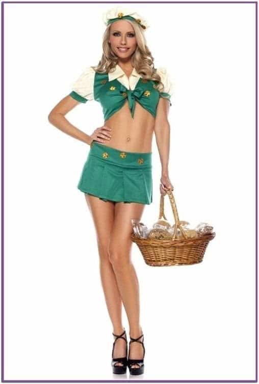 Зеленый костюм Девочка скаут