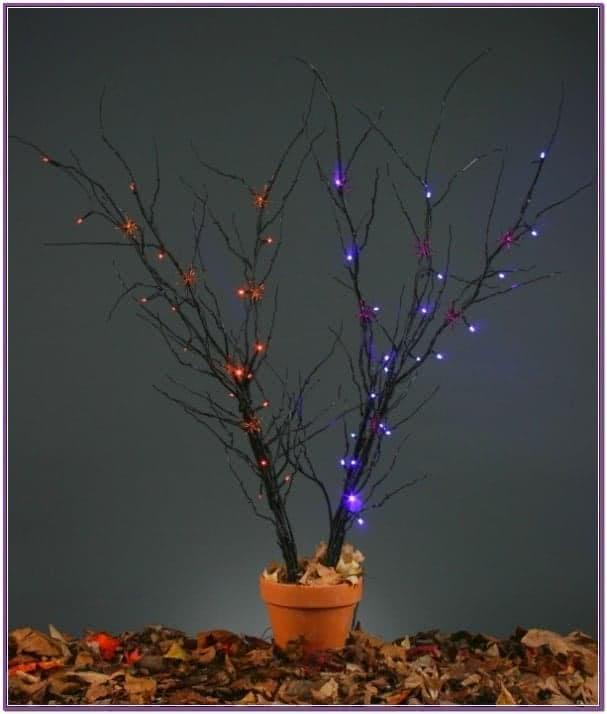 Жуткие фиолетовые светящиеся ветки