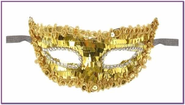 Золотая блестящая маска