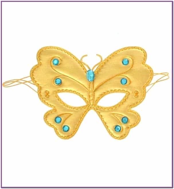 Золотая маска на глаза Бабочка